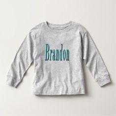Brandon Name Blue Logo Toddler T-shirt - diy cyo customize create your own personalize