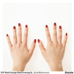 DIY Nails Design NailCovering RedLIPSkiss Lip KISS Minx® Nail Art