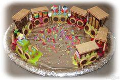 """Gâteau """"train du cirque"""" en plus grand : trop beau !"""