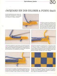 Crochet Jacquard - Tutorial ❥ 4U // hf