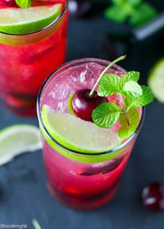 Cherry Lime Mojito-fresh-um-holiday-mixed-drink-4th-of-July