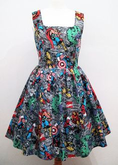 Marvel Comic Book Skirt by GoChaseRabbits on Etsy, $42. Description from pinterest.com. I searched for this on bing.com/images