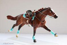 Circle Y Treeless Gaming Set by Rachel Fail - model horse tack
