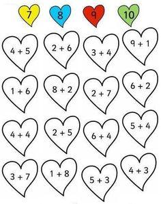 Kindergarten Math Worksheets, Preschool Learning, Preschool Activities, Teaching Kids, Activity Sheets For Kids, Math For Kids, Math Lessons, Barn, Linseed Oil