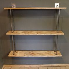 Wall Hung Parquet Shelving Unit  The Amberstone