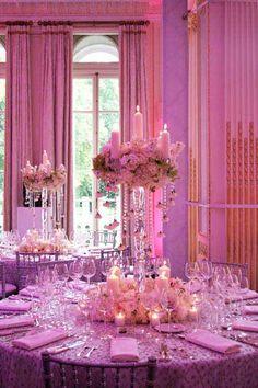 ديكورات أفراح باللون الوردي http://egyptnewsmagazine.blogspot.com/2014/09/pink-wedding-decorations.html#.VBncQfmSzKd