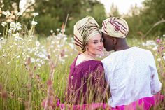 Nigerian Wedding photographed at Wethele Manor. Mixed wedding. Bride wearing traditional Nigerian gele head wrap. Photography by Jo Hastings