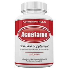 Acnetame- Vitamin Supplements for Oily Skin Treatment, 60 Natural Pills Cystic Acne Treatment, Oily Skin Treatment, Back Acne Treatment, Acne Treatments, Vitamin A Acne, Acne Scar Removal, Hormonal Acne, Shopping, Eating Clean