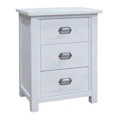 Abby – Bedside Table, 3 Drawer – Recycled Pine/White Wash. For more information Please take a moment to visit our website : http://www.furniture2you.com.au/