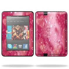 Protective Skin Decal Cover for Amazon Kindle Fire HD 7″ inch Tablet Sticker Skins Pink Diamonds