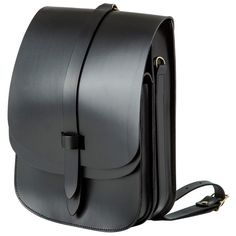 Lost Property of London Arlington Leather Rucksack Black ($460) ❤ liked on Polyvore featuring bags and backpacks