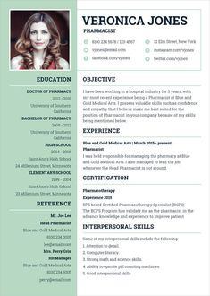 Best Curriculum Vitae Template 7 Pharmacist Templates Free Word Format Resume For Students - Resume Template Ideas of Resume Template - Professional Resume Template Online Resume Template, Best Cv Template, Sample Resume Templates, Modern Resume Template, Design Social, Web Design, Graphic Design, Design Trends, Curriculum Vitae Template Free