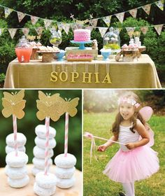 Enchanted Garden Fairy Birthday Party #butterfly