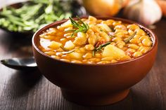 Provençal Bean Stew........This vegan version of a rustic Provençal stew, made with white beans, is sensual and satisfying. A fresh, crusty French baguette is perfect for soaking up its delicious broth. A bountiful tossed salad makes it a complete meal.
