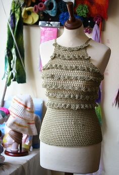 Crochet summer top, Lace top, Summer woman's clothing , Tank top, Crochet top. $54.00, via Etsy.