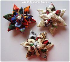 Fuxico: Flores de Tecido em Diversos Modelos by Ateliê Manoela Nunes, via Flickr