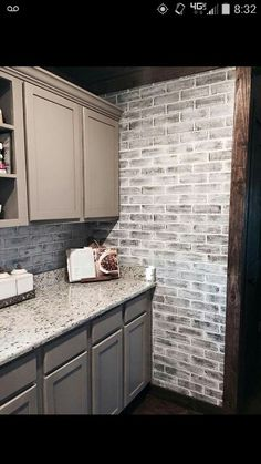White Wash, Faux Brick Love It