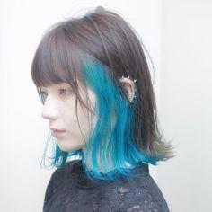 green hair in 2019 hair, blue wig, hair inspo Hair Color Streaks, Ombre Hair Color, Punk Hair Color, Blonde Streaks, Color Highlights, Ash Blonde, Hair Highlights, Hair Inspo, Hair Inspiration