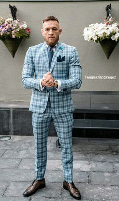 Conor Mcgregor Costume, Conor Mcgregor Suit, Mcgregor Suits, Conner Mcgregor, Notorious Conor Mcgregor, Gents Fashion, Mens Fashion Suits, Nice Outfits For Men, Elegant Man