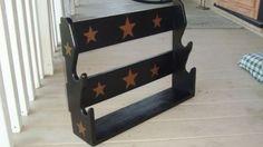 black tan star amerciana western wood rifle pellet shot gun RACK storage shelf**starting bid $10 shipping $18
