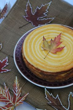 Herbst Himbeerprinzesschen Cheesecake Kürbis Blätter Food Blog