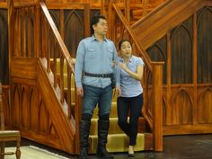 Sylvia Lee (Lucia) and Yungbae Yang (Normanno) during rehearsals for Lucia di Lammermoor.