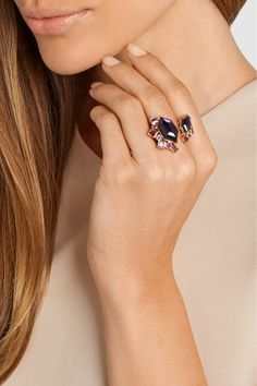 Stephen Webster | Gold Struck Crystal Haze 18-karat rose gold multi-stone ring | NET-A-PORTER.COM