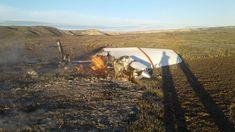 Cayó una avioneta en un campo de Península Valdés hay dos desaparecidos y dos heridos @757LiveAR