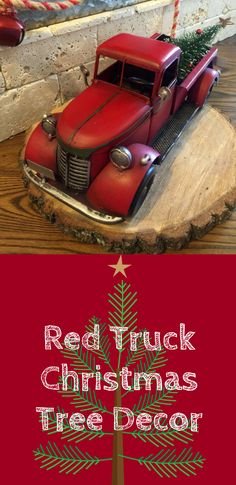Darling Red Truck Christmas Tree Decor | Primitive Christmas Decor | Farmhouse Christmas Decor | Christmas Decor | Holiday Decor | Home Decor #ad