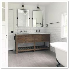 Bathroom decor for your master bathroom remodel. Discover master bathroom organization, bathroom decor some ideas, master bathroom tile a few ideas, bathroom paint colors, and much more. Bathroom Renos, White Bathroom, Bathroom Renovations, Bathroom Interior, Home Renovation, Bathroom Ideas, Bathroom Organization, Master Bathrooms, Bathroom Makeovers
