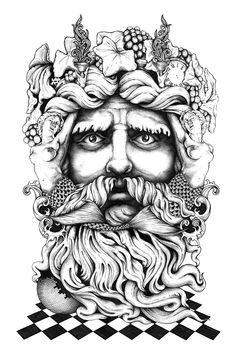 'Bacchus' - Final illustration by Greg Coulton, via Behance