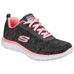4da35e6abd74 Skechers Womens Ladies Flex Appeal 2.0 Marl Effect Trainers Sneakers (6 US)