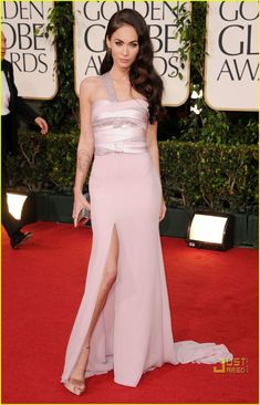 Megan Fox at the Golden Globes.  I love the top of this dress and would like it better if it was a mini dress.