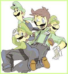 Super Mario Brothers, Super Mario And Luigi, Super Mario Games, Super Mario Art, Mario Bros, Princesa Daisy, Mario Funny, Mario Video Game, Luigi And Daisy