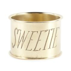 """Sweetie"" Brass Napkin Rings - Waiting On Martha - 1"
