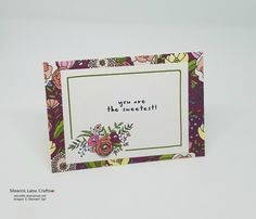 Sweet Soiree Memories & More card made with Stampin' Up! products.