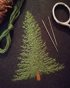 """4,051 Synes godt om, 47 kommentarer – Professional Embroiderer (@delphil__) på Instagram: """"Un petit patch sapin à venir  . . . . . #sapin #fir #foret #forest #greenlife #simple #nature…"""""""