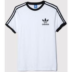 adidas Originals Adidas California T-Shirt - White ($36) ❤ liked on Polyvore featuring men's fashion, men's clothing, men's shirts, men's t-shirts, white, mens crew neck t shirts, mens jerseys, mens striped t shirt, mens striped shirt and mens long sleeve shirts