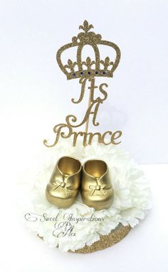 Extra Large It's a prince centerpieces baby by InspirationsByAlex