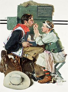 Fighting Caravans of 1931, Gary Cooper by Norman Rockwell