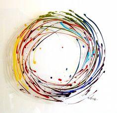 Photo d'une acrylique sur Plexi by Fabienne Brever