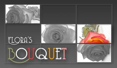 Flora's Bouquet sample business card