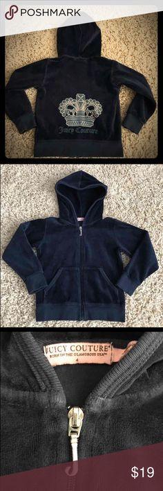 Juicy Couture zip up Adorable navy blue Juice Couture girls zip up. Size 4 Juicy Couture Jackets & Coats