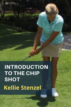 Kellie Stenzel's easy to understand guide for new golfers. Chipping is the short game shot that keeps the ball low and running on to the green, and it's a swinging motion that you already know. #golf #golftip #golfswing #golflessons #womensgolf Game Shot, Golf Wedges, Golf Chipping Tips, Golf Books, Golf Academy, Golf Magazine, Best Golf Courses, Golf Instruction, Golf Putting