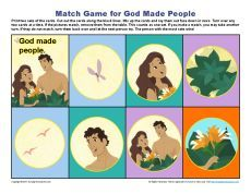 God Made People Match Game