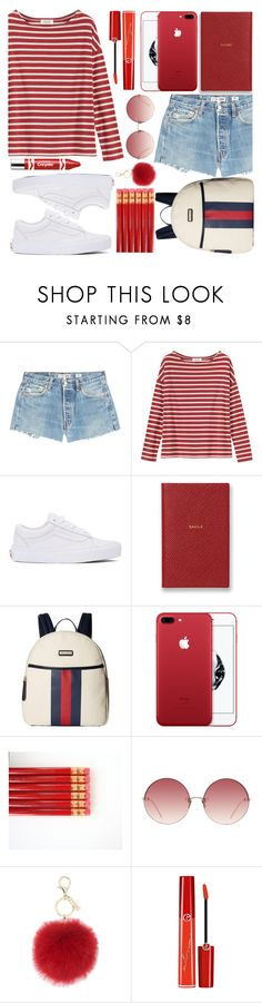 """CLIFORD"" by valemx ❤ liked on Polyvore featuring RE/DONE, Toast, Vans, Smythson, Tommy Hilfiger, Linda Farrow, L.K.Bennett, Giorgio Armani and Clinique"