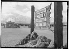 A collection of photos taken in 1943 by Ansel Adams.  He documented the Manzanar War Relocation Center in California where about 10,000 Japanese Americans were interned.