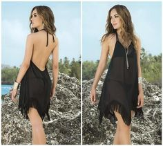 Sheer Black Cover up @Crowdz
