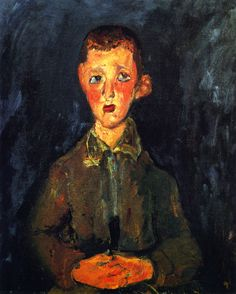 """Chaim Soutine """"Young Italian Boy"""" 1928 Private collection"""