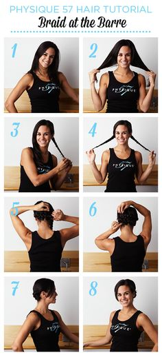 Hair Tutorial: Braid at the #Barre with Physique 57. Click image for step by step instructions.